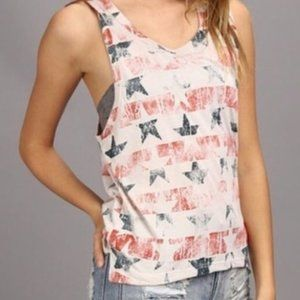Chaser Stars And Stripes Red White Blue Tank Top